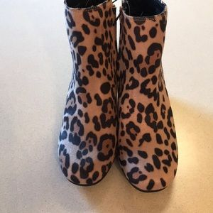Time and Tru Shoes - Time and Tru Leopard Print Ankle Boots
